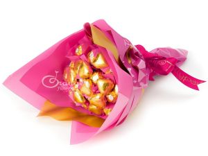 bouquets with chocolates