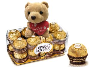 Ferrero with Teddy bear