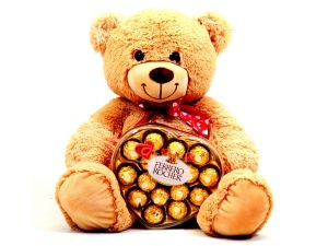 bear with ferrero rocher